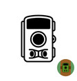 hunting trap photo camera symbol forest tree vector image vector image