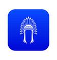indian headdress icon digital blue vector image vector image