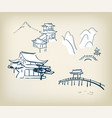 japanese temple design vector image