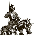 Knight on a Horse vector image vector image