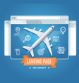 landing page search engine seo concept vector image vector image