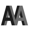 letters a aa m logo creative concept flat vector image