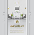 luxury living room interior background vector image
