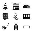 material icons set simple style vector image vector image