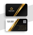 modern golden business card template design vector image vector image