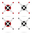 motor with propeller in red and white set vector image vector image