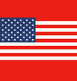 national flag of united states of america vector image