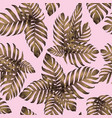 palm monstera exotic seamless pattern vector image