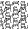 pattern with hand drawn zebra vector image