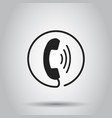 phone icon contact support service sign on gray vector image