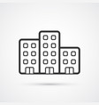 property flat line icon eps10 vector image