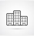 property flat line icon eps10 vector image