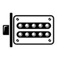 push button lock icon simple style vector image vector image