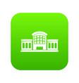 railway station icon green vector image vector image