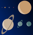 Real Scale Planets vector image vector image
