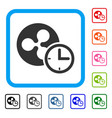 ripple credit counter framed icon vector image vector image