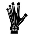 robot hand icon black sign vector image