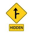 sa traffic road signsdriver on sideroad vector image