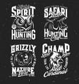 safari hunting sport team t-shirt print vector image