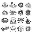 set canoe hiking kayak and camping club badge vector image vector image