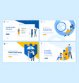 set flat design web page templates vector image vector image
