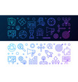 set of 2 startup colored horizontal banners in vector image