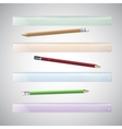 Set of plastic rulers and pencils vector image