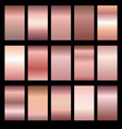 set of rose gradients vector image vector image
