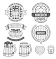 Set of vintage badge emblem or logotype elements vector image