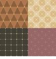 Set Of Vintage Pattern Background vector image