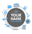 social network designer avatar place for your vector image vector image