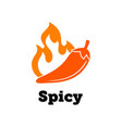 spicy chili hot pepper icon spicy food jalapeno vector image