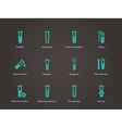 Test tube and flack icons set vector image