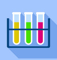 test tube stand icon flat style vector image vector image