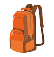 travel backpack icon cartoon style vector image vector image
