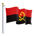 waving angola flag isolated on a white background vector image