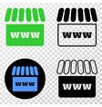 webshop eps icon with contour version vector image vector image