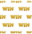 Word WIN pattern vector image
