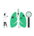 world tuberculosis day concept doctor vector image vector image