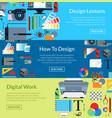 digital art design horizontal banner vector image