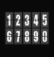 numbers set in modern style elements vector image
