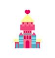 princess castle with heart cartoon vector image