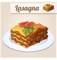 Detailed Icon Lasagna vector image