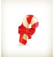 Christmas candy with bow vector image