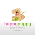 linear of funny cute happy vector image