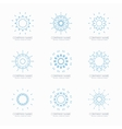 Simple blue geometric abstract symmetric shapes vector image