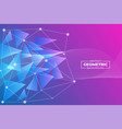 abstract modern futuristic geometric triangle and vector image vector image