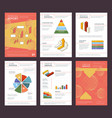annual report design business buklet pages layout vector image vector image
