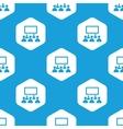 Audience hexagon pattern vector image
