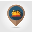 Autumn grass flat mapping pin icon vector image vector image